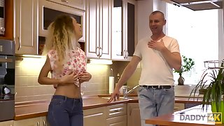DADDY4K. Curly-haired babe and dam I´d analogous to to fuck man try old and..
