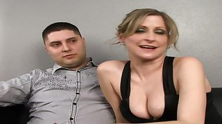 Cuckold Watches His Large-Bosomed White Wife Fu - interracial