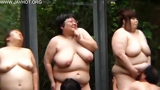Well-endowed Japanese BBW ladies with big naturals