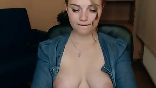 Bodacious mommy showcase off will not hear of distinguished milk juggs on webcamera and wanks porntube