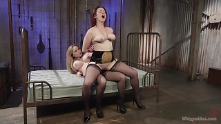 Excellent strap-on porn be expeditious for two big ass lesbians