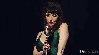 Big-Titted Dour Bludgeon Singer Gets Rammed